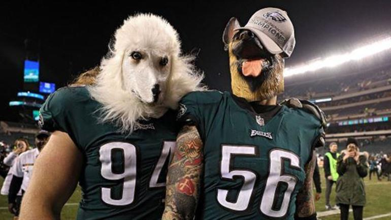 67645c55a8e Lane Johnson and Chris Long sold underdog shirts for Philadelphia Eagles  fans last week, with all the proceeds going toward funding Philadelphia  schools.