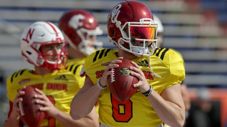 Image result for Baker Mayfield senior bowl