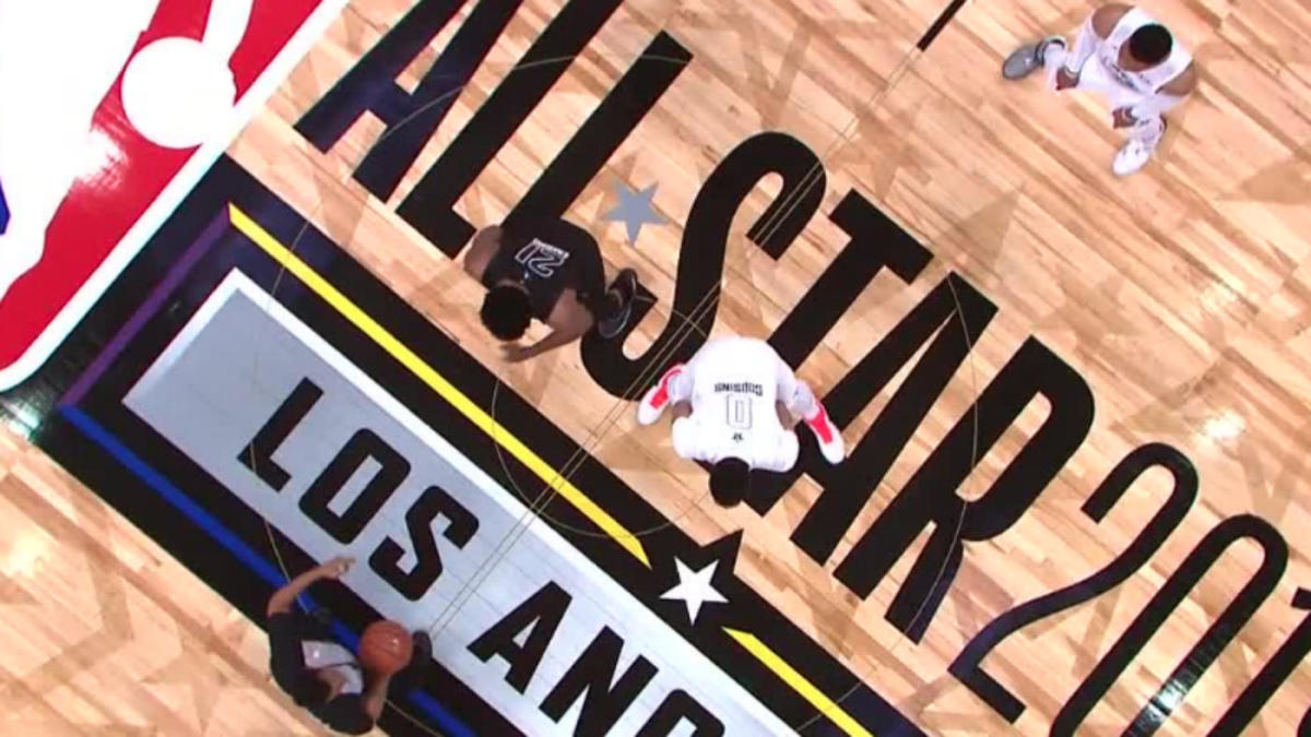 info for 10a96 6613a NBA All-Star Game: Anthony Davis honors DeMarcus Cousins by ...