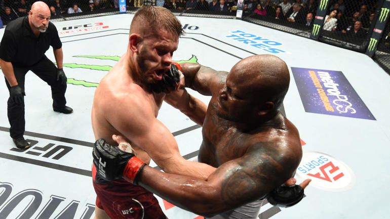 UFC Fight Night 126 results: Derrick Lewis rallies to knockout Marcin Tybura