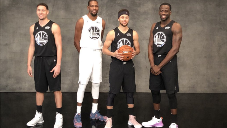 Nascar Racing Games >> Klay Thompson, John Wall stand out on NBA All-Star Weekend 2018 photo day - CBSSports.com