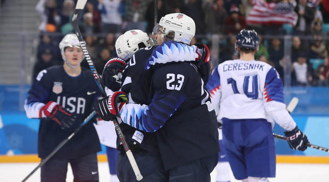 Pyeongchang: USA Drills Slovakia, 5-1, To Earn Quarterfinal