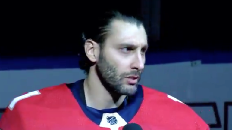 Panthers Roberto Luongo Gives Emotional Speech About Parkland