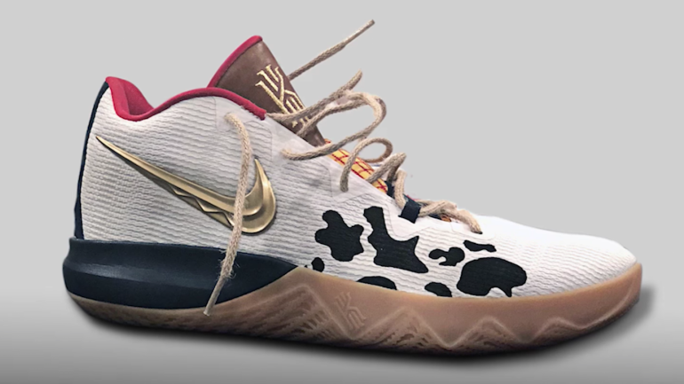 7fe5be2ee LOOK  Kyrie Irving debuts new Nike sneakers inspired by  Toy Story  -  CBSSports.com