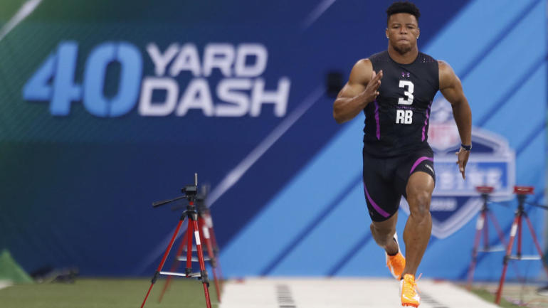 LOOK: Saquon Barkley's 2018 NFL combine compared to OL, WR ...