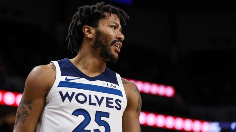 4b53936d3877 Derrick Rose sets a career-high with 50 points to help Timberwolves claw  past Jazz - CBSSports.com