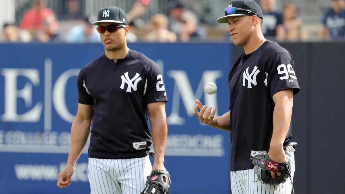 best sneakers 25187 f472b Yankees injuries: Aaron Judge, Giancarlo Stanton have no ...