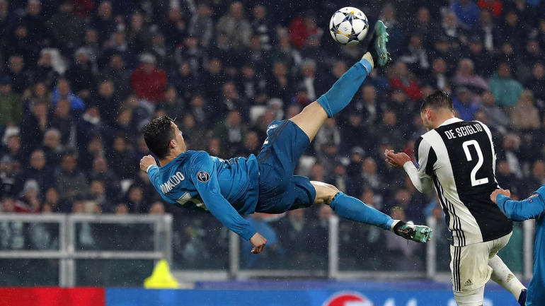 Ronaldo's Champions League bicycle kick goal for Real Madrid earns praise from Juventus fans ...