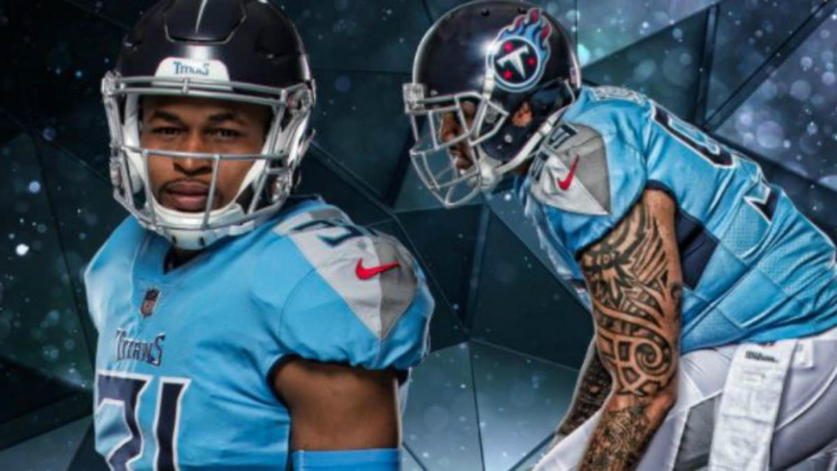 new concept c0c93 5d109 Titans unveil new uniforms, change helmet for first time in ...