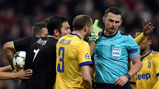 Gianluigi buffon speaks out at juventus vs real madrid referee buffon juventus michael oliverg stopboris Images