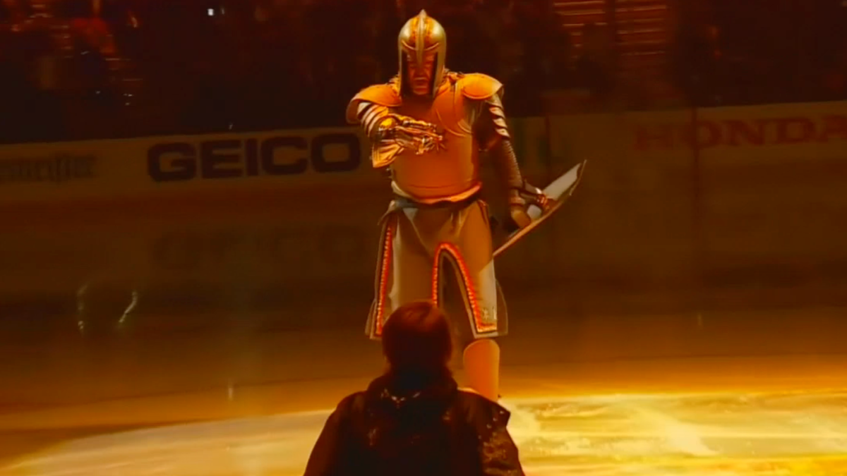 WATCH: Golden Knights put on surreal pregame show for NHL playoffs