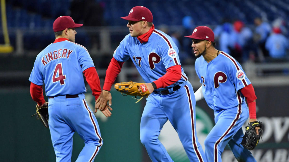 f81cfbe0b LOOK  The Phillies  1980s powder-blue throwbacks are beautiful and  deserving of your love - CBSSports.com