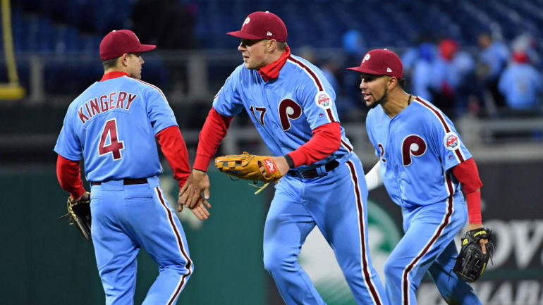 LOOK  The Phillies  1980s powder-blue throwbacks are beautiful and  deserving of your love - CBSSports.com 49d55ff74ea