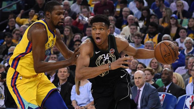 648b38e5bde Warriors  Kevin Durant to Giannis Antetokounmpo  Don t stay with Bucks if  you re not having fun - CBSSports.com