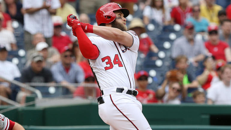 Bryce Harper has another big game leading off as the Nationals win fourth straight game