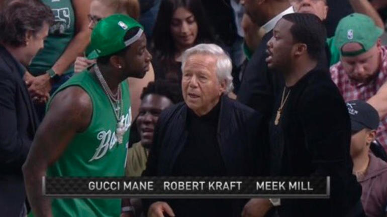 NBA Playoffs: Patriots owner hangs out with Gucci Mane ...