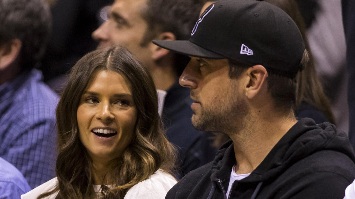 Danica Patrick gives boyfriend Aaron Rodgers a shout out for historic Packers win, his 'hotness'