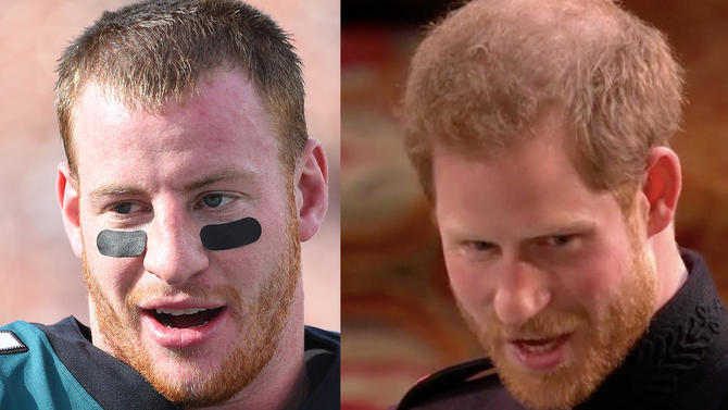 Carson Wentz Wedding.Royal Wedding Causes Everyone To Make Jokes About Carson Wentz