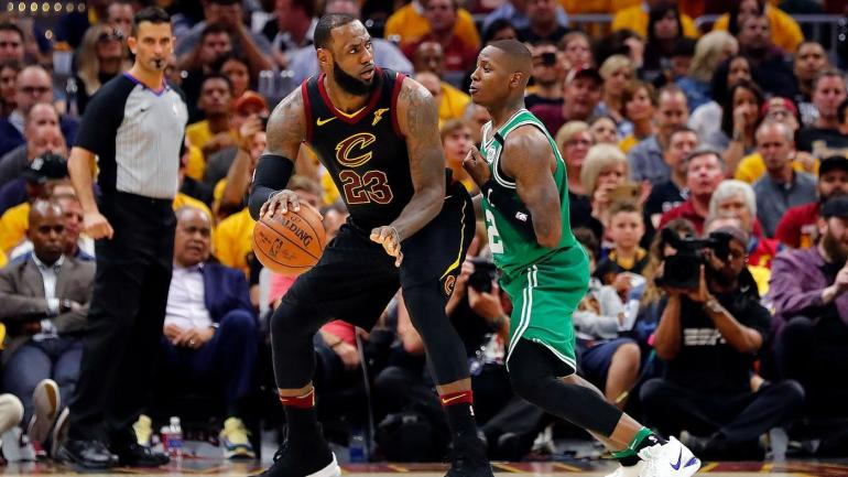 96f3dc5ebb7 NBA Playoffs 2018  LeBron James goes for 44 as Cavaliers hold off Celtics  to even series at 2-2 - CBSSports.com