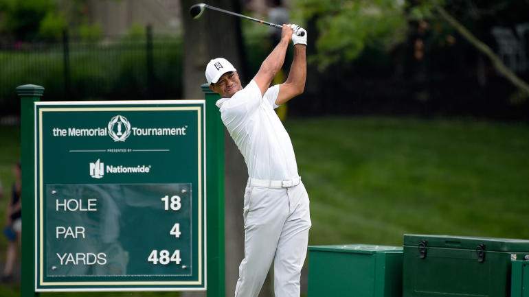 2018 memorial tournament leaderboard  tiger woods score