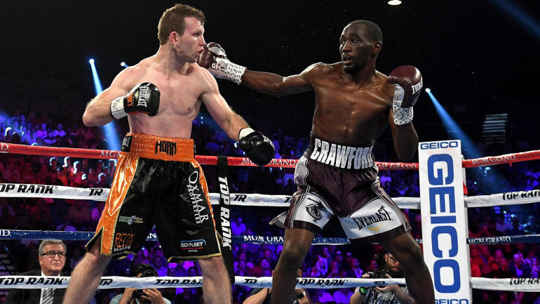 terence crawford dominates jeff horn to win welterweight