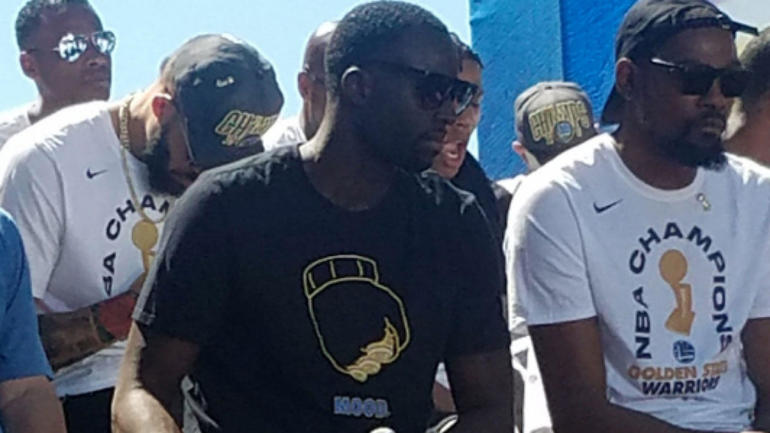 Draymond Green trolls LeBron James with T-shirt once again at Warriors   championship parade - CBSSports.com 6d46101a800a