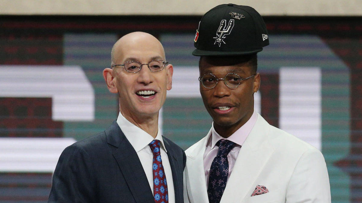 220a2d235c0 2018 NBA Draft: Lonnie Walker had some technical difficulties with his new  Spurs hat - CBSSports.com