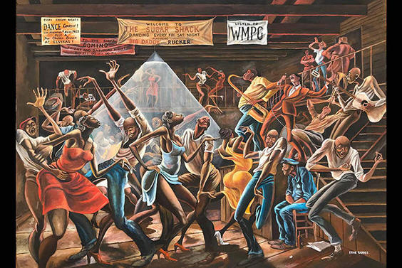 Ex-NFL player Ernie Barnes' marvelous paintings featured in North Carolina exhibit