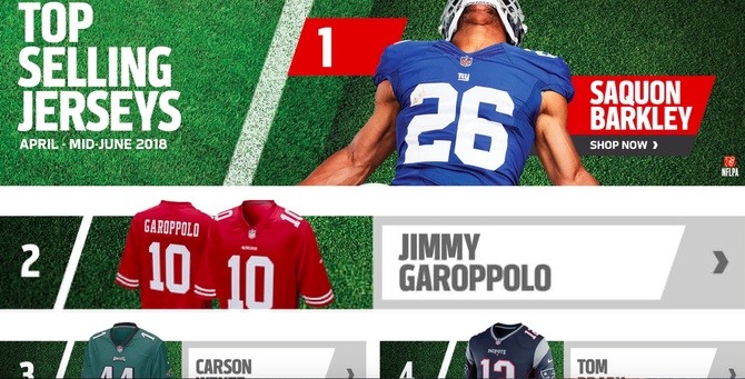 top nfl jersey sales