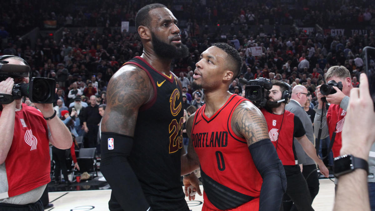 c28129cb011 Damian Lillard answers fan about potential trade to Lakers: 'I'm typically  a happy camper' - CBSSports.com