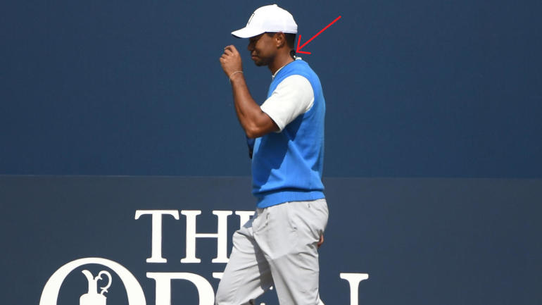 british open 2018  here u0026 39 s why tiger woods has black tape