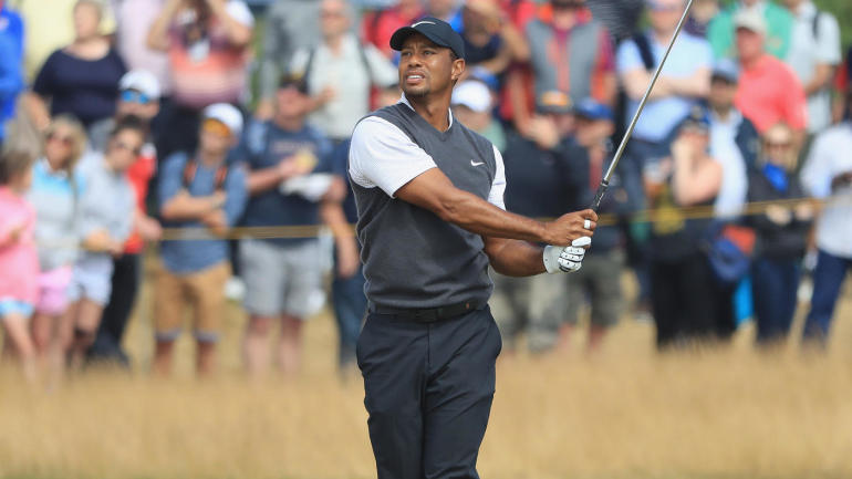 british open 2018  tiger woods thrills with score of 66 to