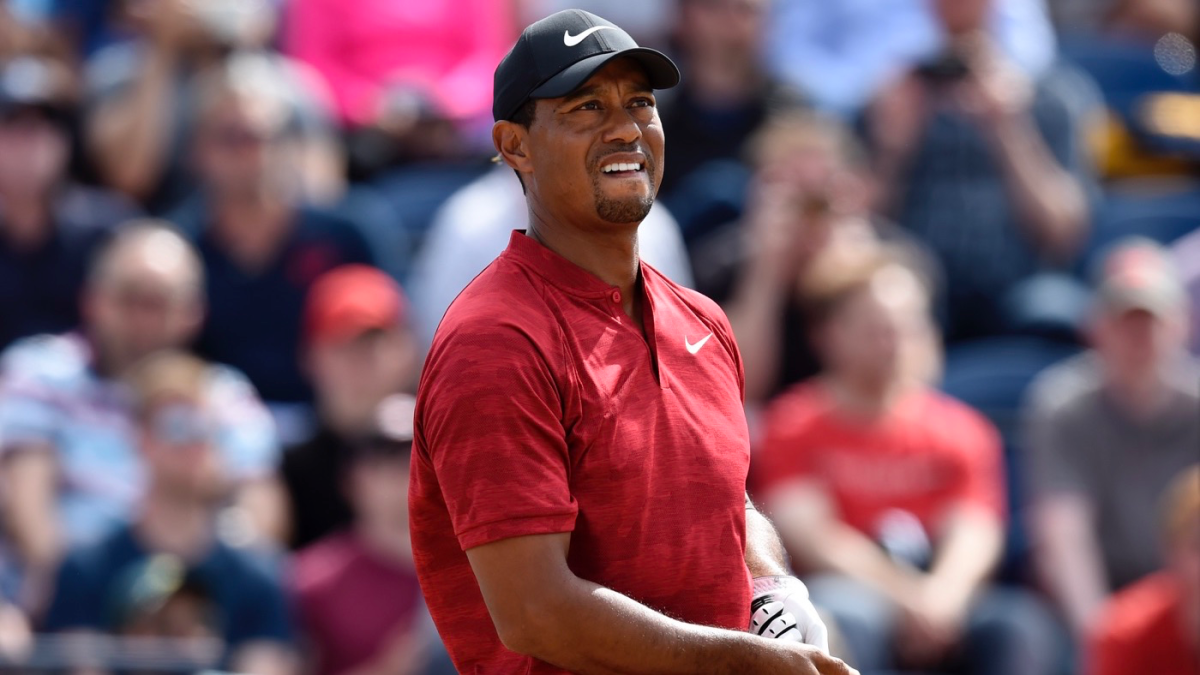 tiger woods score  hot front nine at 2018 british open