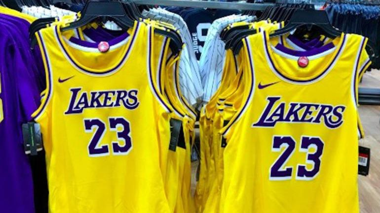 31f728211 A sporting goods store may have accidentally leaked the new Lakers jerseys  - CBSSports.com