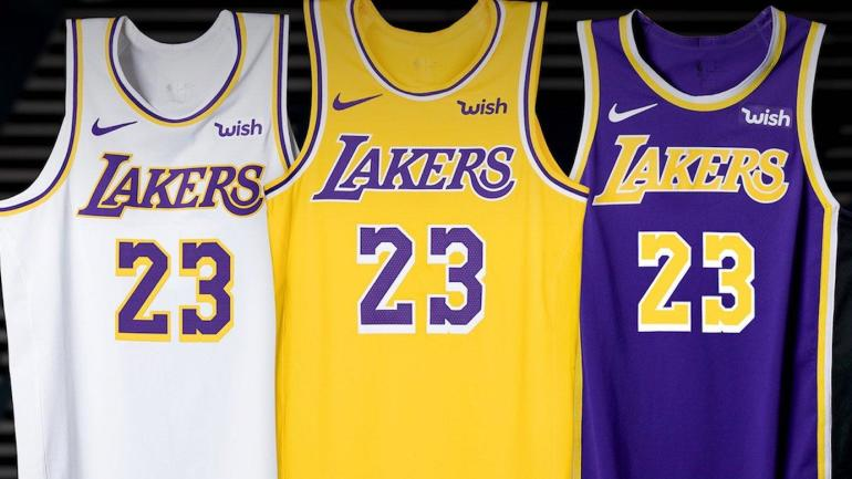 2553826dbbc0 Ranking the new NBA jerseys that have been unveiled this offseason  Lakers   uniform game is strong - CBSSports.com