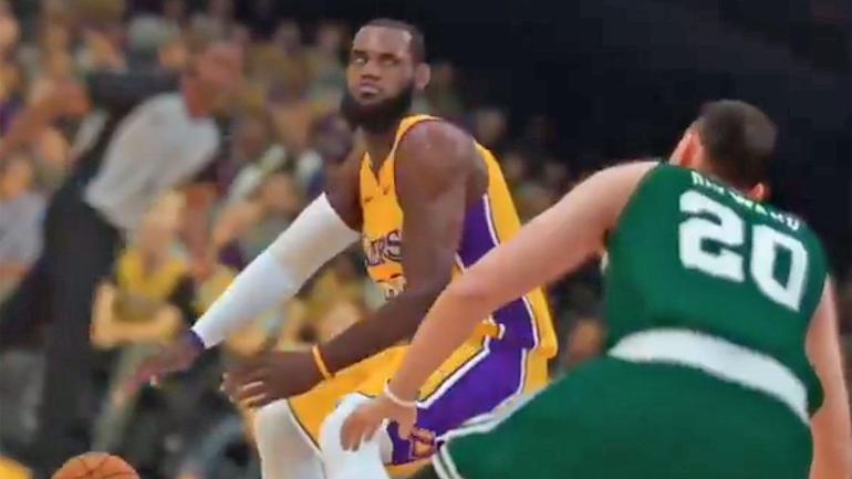 best website 851b0 360f1  NBA 2K19  gameplay trailer delivers first look at LeBron as a Laker, Kawhi  Leonard as a Raptor - CBSSports.com