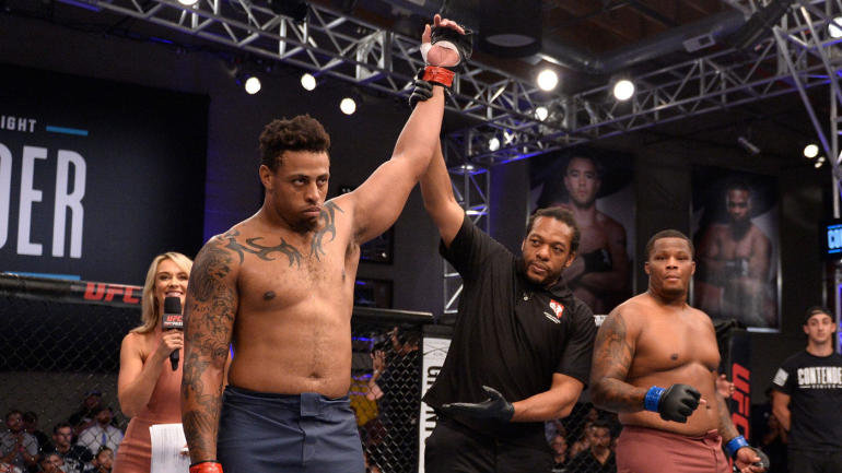 greg hardy knocks out foe in just 17 seconds on dana white