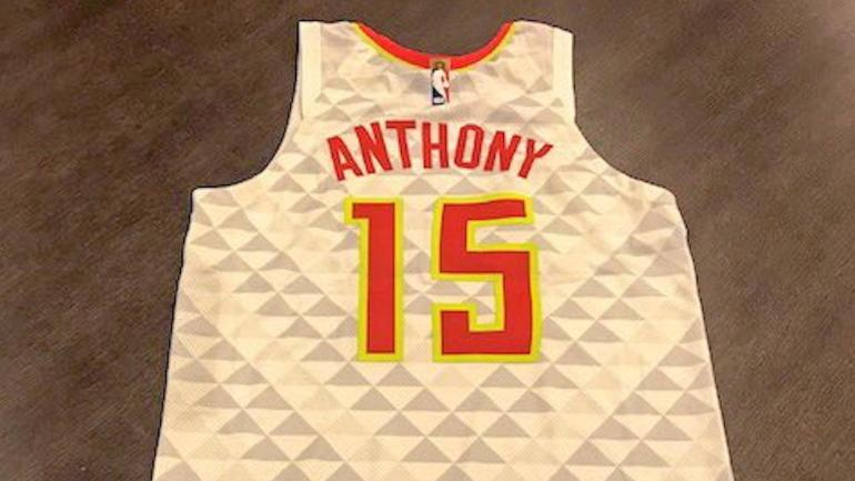 The Hawks granted Carmelo Anthony s wish for his own jersey earning LeBron  James  approval - CBSSports.com 589e4ea37
