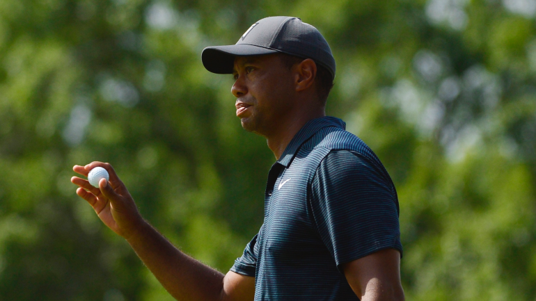 tiger woods score  bounce back after tough first nine