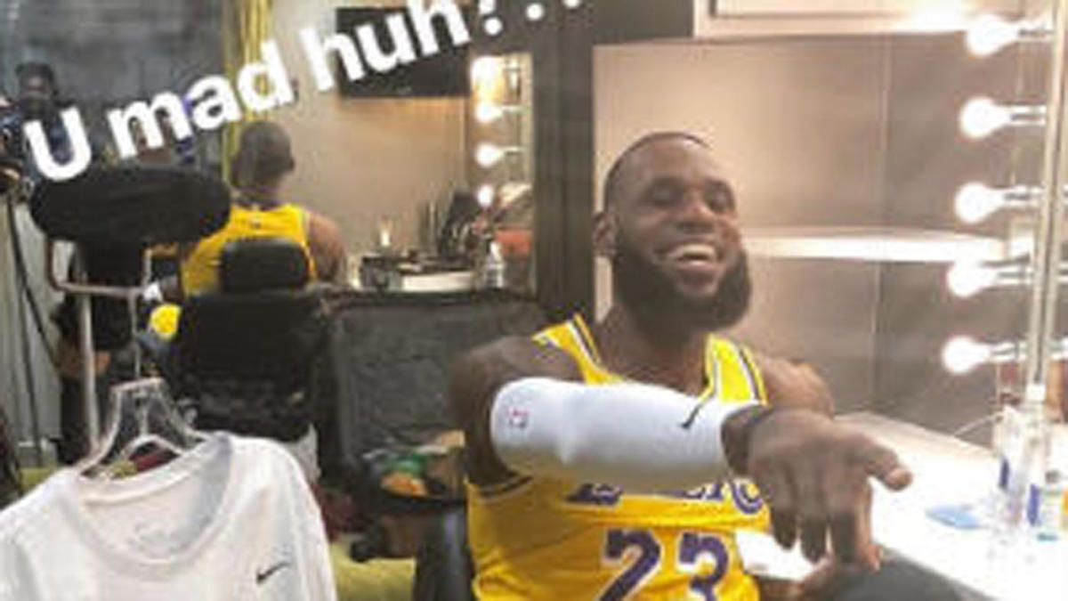 LOOK: LeBron James posts pictures of himself in a Lakers