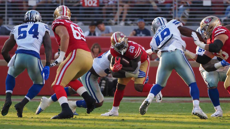 49ers runs back Jerick McKinnon gets good news after MRI on his right knee