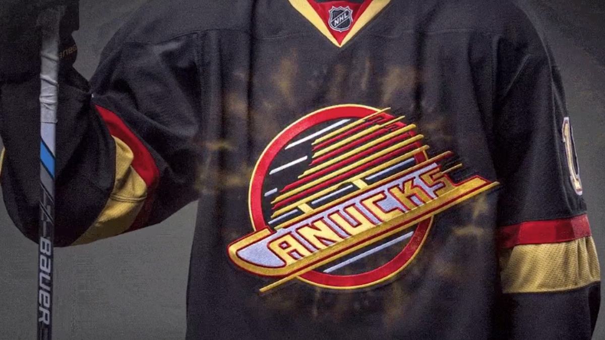 VANCOUVER CANUCKS Flying Skate Jersey Pin