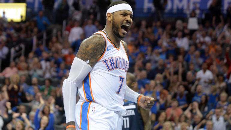 Carmelo Anthony Writes Thank You Letter To Thunder Fans After One Season In Okc Im Sorry It Didnt Work Out Cbssports Com