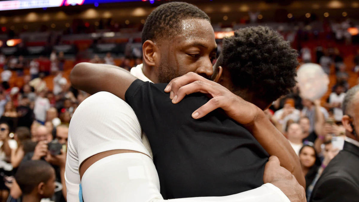 Heat's Dwyane Wade and family support son, Zion, at Miami Beach