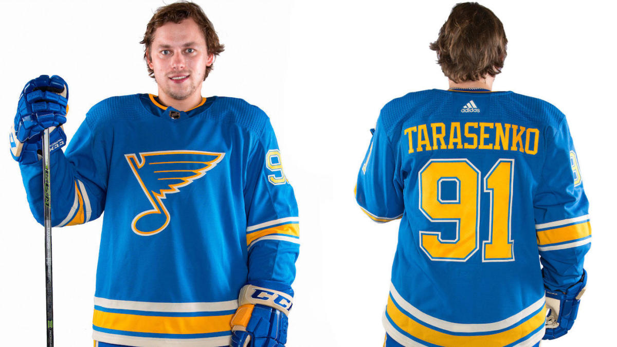 newest a1bf4 96960 LOOK: St. Louis Blues reveal Heritage Jersey that they'll ...