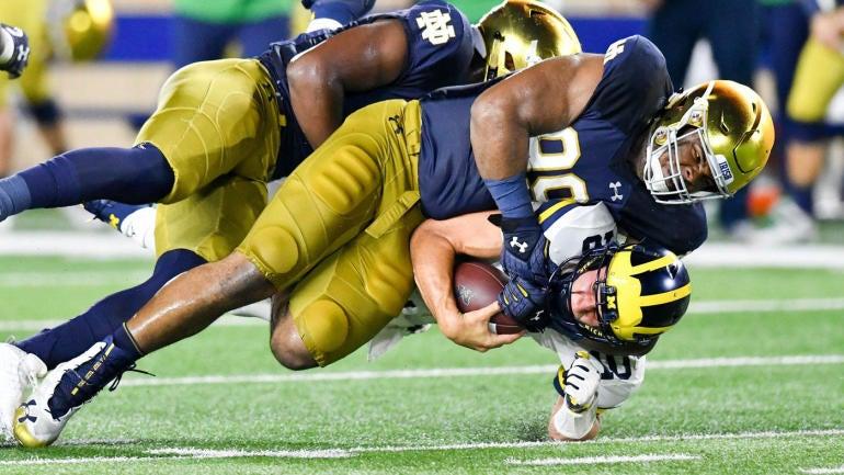 Michigan Vs Notre Dame Score No 12 Irish Handle No 14 Wolverines