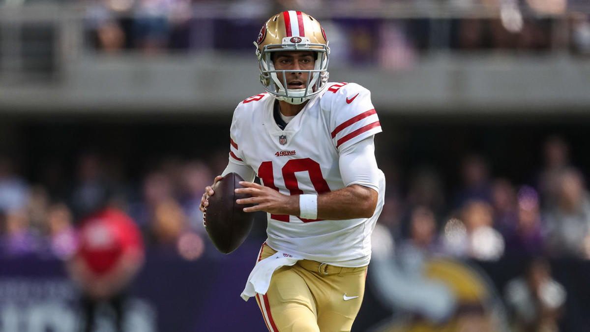 on sale 387db d96ca NFL 2019: How well a healthy Jimmy Garoppolo must perform to ...