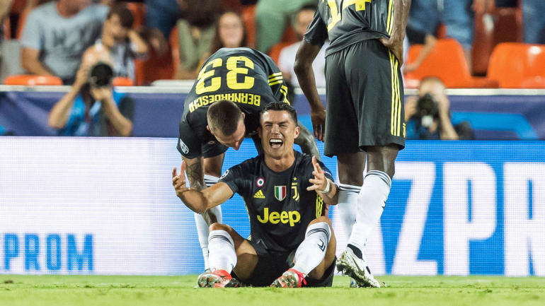 a741cb6a587 Cristiano Ronaldo red card  Juventus star sent off in tears in first Champions  League match and Twitter has jokes - CBSSports.com