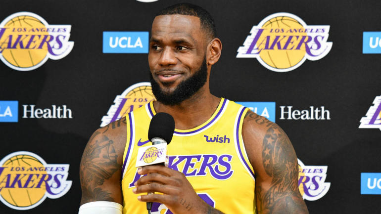 LeBron James says new-look Lakers have 'a long way to go' until they can challenge Warriors