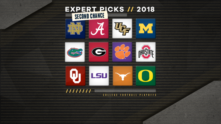 College football predictions: Second chance expert picks for the 2018 season